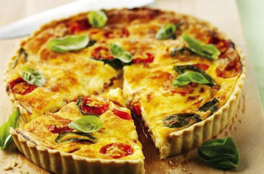 Cranberry, Brie and Basil Quiche